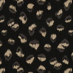Groundworks Feline-Ebony / Beige Decor Multipurpose Fabric