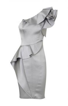Karen MIllen Curvaceous Satin Dress Silver (also in champagne) $139