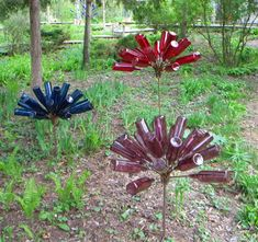 Different style of bottle trees, look more like flowers.