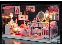 miniature dollhouse room boxes - Google Search