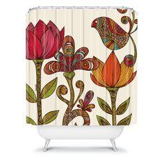 valentina ramos shower curtains | ... Designs Valentina Ramos Woven Polyester Paradise Bird Shower Curtain