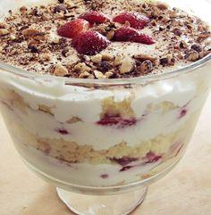 Strawberries 'n' Cream Trifle -- delicious recipe!! Definitely a repeat-worthy recipe!