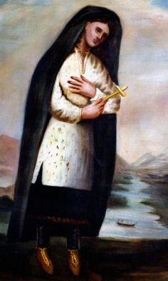 The original painting of Kateri Tekakwitha.