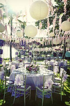 outdoor decor for a wedding