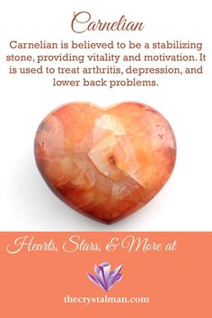 A stunning orange form of Agate, Carnelian is believed to provide vitality and motivation, assist in the treatment of arthritis, and ease lower back problems. Want a piece of Carnelian? Visit us today!