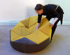 Cloud Fever: Geometric Furniture and Designs Origami Furniture, Geometric Furniture, Folding Furniture, Modular Furniture, Modern Furniture, Furniture Design, Geometric Fashion, Origami Design, Take A Seat