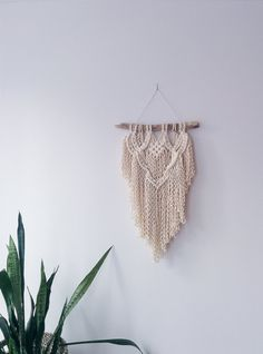 Driftwood Macrame Wall Hanging by IsabelsDesignStudio on Etsy