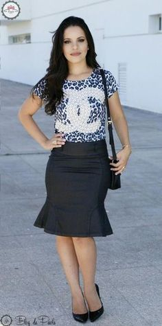 Blog of Paola: Look of the Day: T-Shirt Chanel DIVA