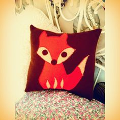 Felt animal cushion case. £15.00, via Etsy.