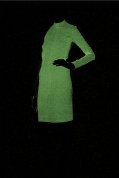 Halston glow in the dark sequin dress...amazing