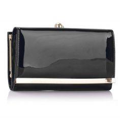Peňaženka lakovaná Limi, čierna 16051