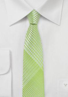 Businesskrawatte schlank  abstraktes Dekor staubgrün