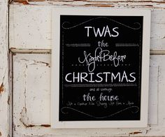 The Night Before Christmas Print by sweetwaterscrapbook on Etsy, $19.95