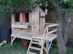Garden Pallet Playhouse