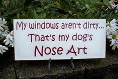 my dog's nose art