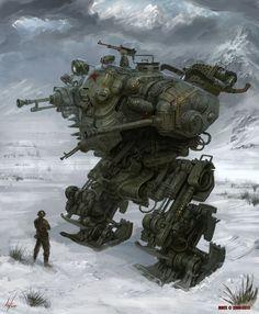 Cool Sci-Fi Machines, Walker. #robot #machines [http://www.pinterest.com/alfredchong/]