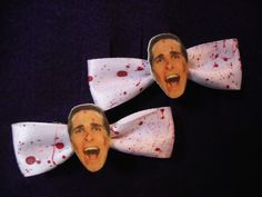 American Psycho Hair Clips  SOLD, via Etsy. #horror #diy