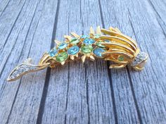 Vintage Signed Kenneth Lane Fish Brooch hard to by MeyankeeGliterz