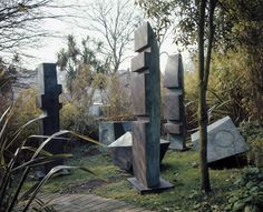 Barbara Hepworth. Conversation with Magic Stones, Bronze, 1973 (BH 567, edition of 3 groups plus 4 sets of individual sculptures), complete groups at Tate (Barbara Hepworth Museum, St Ives); Trinity University, San Antonio, Texas