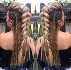 @braidsandblush Faux Mohawk and side braids! Festival hair boho up do up styles braids
