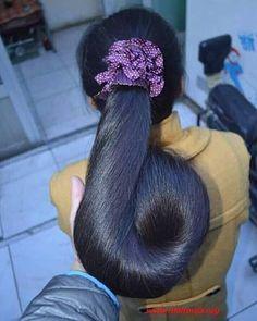 Long Ponytail Hairstyles, Long Hair Ponytail, Black Hair Aesthetic, Long Indian Hair, Long Hair Models, Fotos Goals, Beautiful Long Hair, Amazing Hair, Long Black Hair