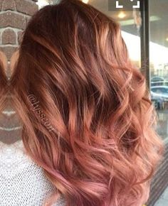 Auburn with hint of rose gold