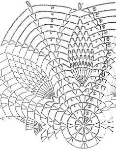 Ажурные салфетки крючком со схемами