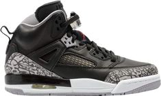 Buy and sell authentic Jordan Spizike Black Cement (GS) shoes and thousands of other Jordan sneakers with price data and release dates. Black Jordans, Nike Air Jordans, Jordans Sneakers, Design Nike Shoes, Jordan Spizike, Authentic Jordans, Black Cement, Fresh Shoes, Jordan Shoes