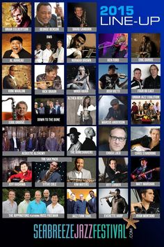April 22-26: 2015 Seabreeze Jazz Festival