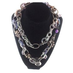 """🌺Silver Necklace with Gems and stones🌺 Absolutely stunning necklace.  36"""" long Jewelry Necklaces"""