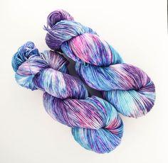 Summoning Faeries - Colors: Purple, Blue, Pink, Fuschia - hand dyed yarn from HalesBee Handmade on Etsy