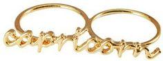 Capricorn Knuckle Ring #Zodiac