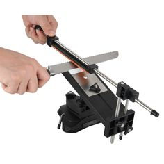 Upgraded Version Fixed-angle Knife Sharpener Professional Kitchen Knife Sharpening Kits System with 4 Grindstones Kitchen Tools Professional Kitchen Knives, Kitchen Knife Sharpening, Iron Steel, Kitchen Tools, Outdoor Power Equipment, Planes, Knife Sharpening, Diy Kitchen Appliances, Airplanes