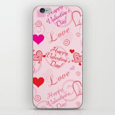 Happy Valentine's Day iPhone Skin by refreshdesign