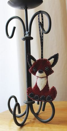 Fox Felt Christmas Ornament Handmade by kmwatkins on Etsy