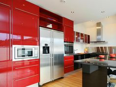 Red kitchen cabinets have some stylish ideas to bring kitchen beautiful and interesting. You can bring it by one of 20 stylish ways to work with red kitchen cabinets. I will tell you the reason why this year will be the year of red kitchen cabinets.