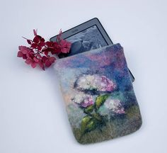 Felted Kindle Case Kindle Paperwhite Voyage blue green