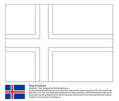Flag of Iceland coloring page from European flags category. Select from 24848 printable crafts of cartoons, nature, animals, Bible and many more.