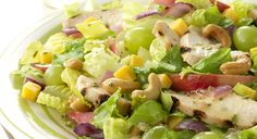 BBQ GRILLING #BBQ #Grilling Chicken and Apple Salad with Cheddar Cheese and Cashews