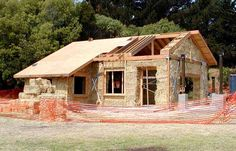 Strawbale house - exterior / building process