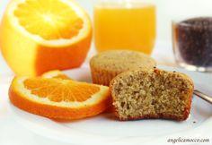 Muffin all'arancia con semi di chia • Senza glutine