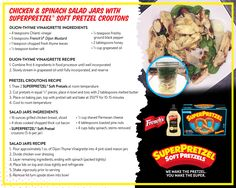 Impress your friends with this healthy and delicious jar salad brought to you by SUPERPRETZEL Soft Pretzels and French's Mustard!