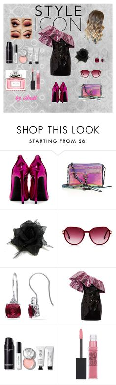 """""""Party Girl - Shades of Pink"""" by andi-143 on Polyvore featuring Yves Saint Laurent, Rebecca Minkoff, Miadora, Bobbi Brown Cosmetics, Maybelline and Christian Dior"""