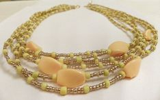 Gold and Yellow Multi-Strand Necklace  Golden by DuMoments on Etsy