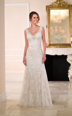 6037 Column Wedding Dress by Stella York