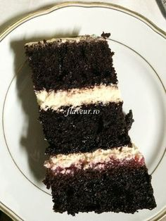 Tort cu blat umed de cacao si ganache alb - Flaveur