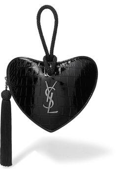 2d9a30f4cba5d5 Saint Laurent - Croc-effect leather clutch