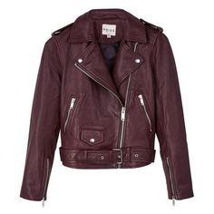 Reiss Nira Leather Biker Jacket ❤ liked on Polyvore featuring outerwear, jackets, purple biker jacket, purple motorcycle jacket, purple leather jacket, motorcycle biker jacket and purple jacket