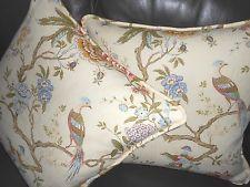 Lee Jofa G P & J Baker Throw pillows ORIENTAL BIRD printed linen bird floral TWO