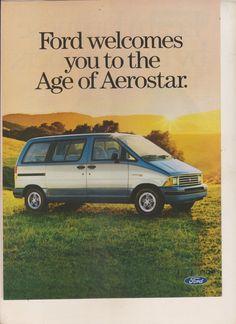 1986 Ford Aerostar vintage Magazine Advertisement